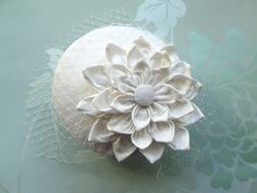 Bridal Cocktail Hat - Wedding Hat, Bridal Hat, Womens Hat, Formal Hat, Ivory Hat, Fascinator, Silk by LillibetsMillinery on Etsy https://www.etsy.com/listing/197489330/bridal-cocktail-hat-wedding-hat-bridal
