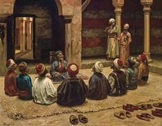 EUGENE BAUGNIES French (1842-1891) Remembering the Divine (Zikr) oil on canvas, signed lower left. 29 x 36