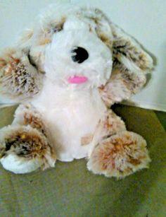 dan dee plush puppy dog brown white stuffed animal