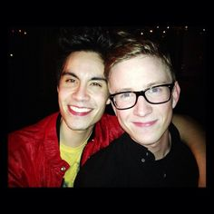 tyleroakley) - Me and Sam Tsui looking cute as fuck and you will...