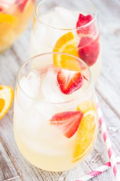 Fruity Pineapple Sangria ~ So fresh and inviting! by www.themessybakerblog.com