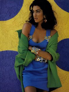 Yasmeen Ghauri photographed by Patrick Demarchellier, Vogue, February 1991.