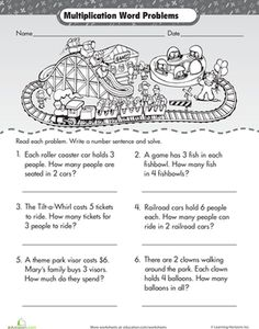 math worksheet : multiplication and ision multiplication and division on pinterest : 3rd Grade Multiplication Word Problems Worksheets