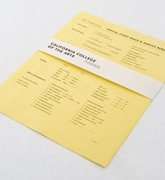 Form design - great idea for presenting a proposal