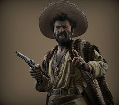 Tuco Benedicto by Andrei Poddubny Eli Wallach Character Creation, 3d Character, Character Design, Character Reference, Lee Van Cleef, Western Movies, Mountain Man, Clint Eastwood, Old West
