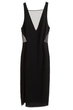Sheer panels give an LBD a little something extra