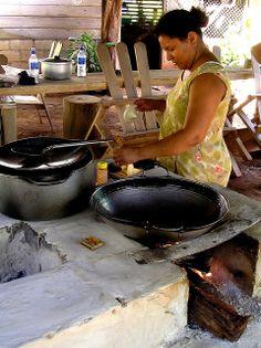 tortilla making, Costa Rica
