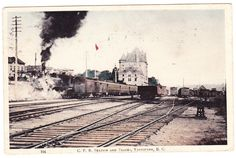 BC – VANCOUVER, C.P.R. Station and Rail Yard c.1908 PPC