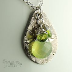 AAA Apple Lime Green Chalcedony Peridot by SamBraundJewellery