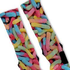 Gummy Worms Fast Shipping Nike Elite Socks by FreshElites on Etsy Nike Basketball Socks, Basketball Shorts Girls, Wsu Basketball, Volleyball, Basketball Scoreboard, Sports Socks, Basketball Season, Baseball, Socks