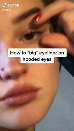 Punk Makeup, Grunge Makeup, Eye Makeup Art, No Eyeliner Makeup, Makeup Inspo, Makeup Hacks Videos, Alternative Makeup, Makeup Looks Tutorial, Creative Eye Makeup