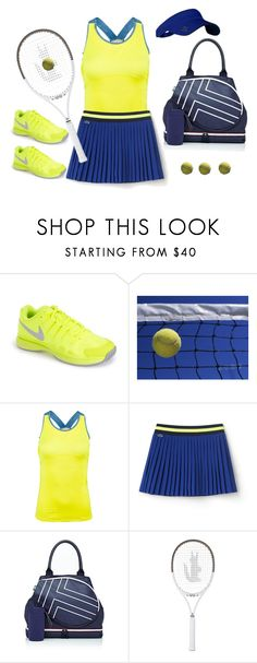"""""""Tennis Anyone?"""" by peggysoans ❤ liked on Polyvore featuring NIKE, Tory Sport, Lacoste and Jofit"""