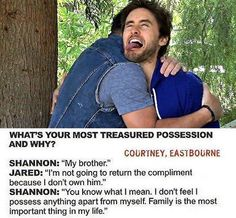 OMG! so sweet!♥ Jared is definetly Shannon's weakness.