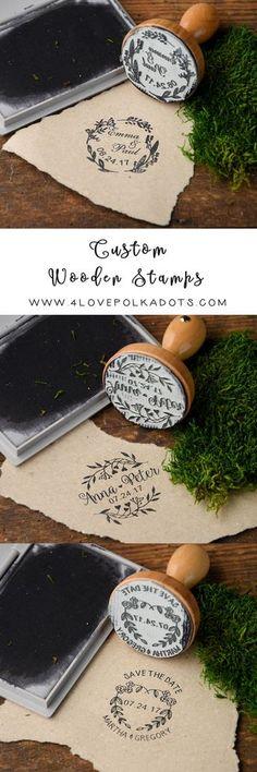 Rustic country wood wedding stamps #rusticwedding