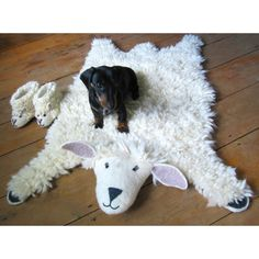 Buy Shirley Sheep Rug from Sew Heart Felt: For traditionalists who want a sheepskin rug – but without the skin! Meet our gorgeous, fluffy hand-felted Shirley sheep rug. Sheep Rug, Wooly Bully, Animal Rug, Childrens Rugs, Fluffy Rug, Sheepskin Rug, Natural Rug, Indoor Rugs, Rugs