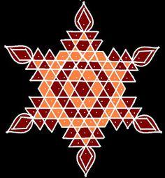 Enlighten your Pooja room by drawing beautiful Pulli Kolam 10 - 1 interlaced dots Kolam 10 - 1 Idukku Pulli Kolam Start with 10 dots. Put interlaced do Rangoli Borders, Rangoli Border Designs, Rangoli Designs With Dots, Rangoli With Dots, Beautiful Rangoli Designs, Simple Rangoli, Rangoli Ideas, Rangoli Designs Diwali, Kolam Rangoli