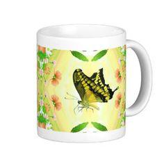 Summer Lover Butterfly coffee Mug White Coffee Mugs, I Love Coffee, Butterfly Gifts, Custom Mugs, Summer Of Love, Classic White, Gift For Lover, Morning Coffee, Tea Cups