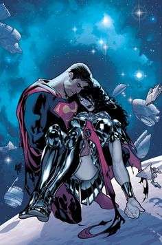 Superman and Wonder Woman by Adam Hughes. He is probably my favorite comic artist. His work is so dynamic.
