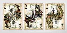 King, Queen, and Jack of Spades & Gold Edition Jack Of Spades, King Of Spades, Unique Playing Cards, Playing Cards Art, Childhood Stories, King Queen, Kitsch, Alice In Wonderland, North America