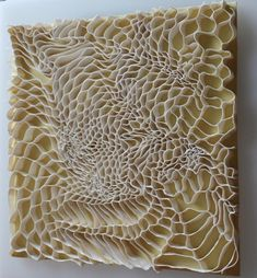 Fenella Elms Fine ribbons of por elain http://pokate.com/2012/04/15/fenella-elms-porcelain-wall-art/