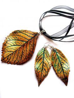 Tutorial Fall leaf necklace