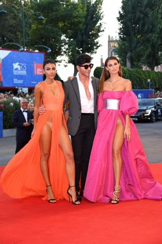 Italian models take thigh-split trend to WHOLE new level at the Venice Film…