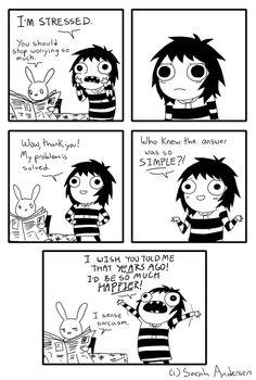 """I'm stressed."" A Sarah's Scribbles comic by Sarah Andersen. http://ibeebz.com"