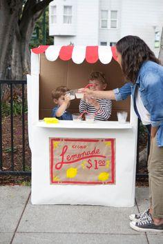 DIY Un puesto de limonada de carton
