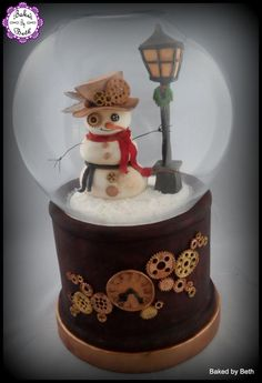 Cuties Little Christmas Collaboration :Steampunk Snow globe  by BakedbyBeth