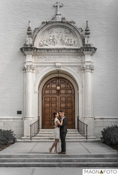 Engagement session at the Knowels Memorial Chapel in Winter Park, FL  #weddingchapel #engagement #gettingmarried