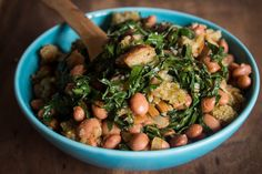 Portugal: A vegetarian's oasis!Migas de Couve e Feijão – Sauteed Bread with Collard Greens and Beans