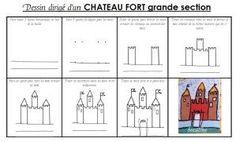 j'apprend à dessiner un chateau
