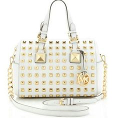 1b31e3408bbb bag michael kors white gold purse Michael Kors Outlet, Cheap Michael Kors,  Bolsas Michael