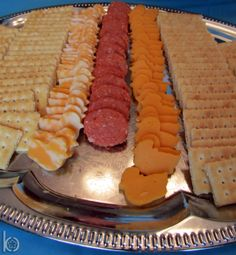 I'm Not Crazy About Using Saltines At A Baby Shower (Maybe Ritz Type Crackers Instead), But I Do Love The Idea Of Cutting Out Little Ducks From Cheese...