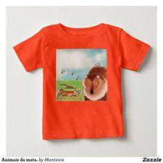 Animais da mata. camisetas