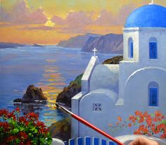Image result for greece painting