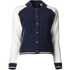 RAG & BONE 'Raquel' varsity jacket found on Polyvore