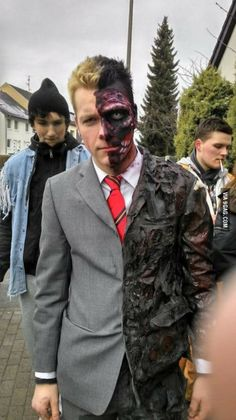 To the 15-year-old guy from Bangladesh: This is my version of Two Face. I'm 21