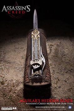 New photos of the Aguilar's Hidden Blade from Assassin's Creed Movie by McFarlane Toys (Via The Codex)