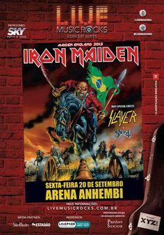 Essa dica é para os headbangers de plantão! 20 de setembro tem show do Iron Maiden na Arena Anhembi.