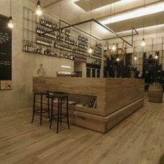 The RED Pif Wine Restaurant has been designed by Czech Studio Aulik Fiser Architekti