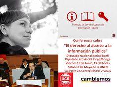 Comité Departamental Uruguay de la Unión Cívica Radical: KARINA BANFI Y JORGE MONGE DISERTARAN SOBRE EL DER...