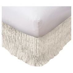 Suffolk Bed Skirt in White