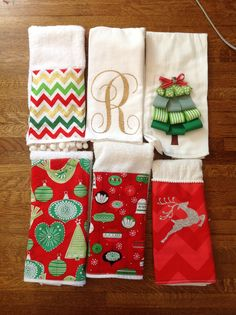 Christmas hand towels @Martha Brueggemann  you could make these for a special gift...hint, hint!