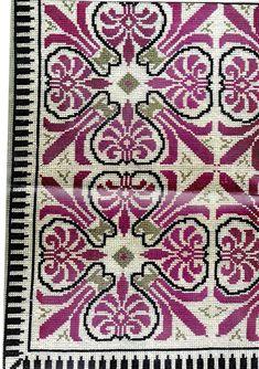 Cross Stitch Borders, Cross Stitch Flowers, Cross Stitch Designs, Cross Stitch Patterns, Cross Stitch Embroidery, Embroidery Patterns, Hand Embroidery, Tapestry Crochet, Bargello