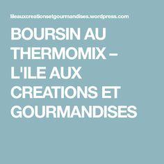 BOURSIN AU THERMOMIX – L'ILE AUX CREATIONS ET GOURMANDISES