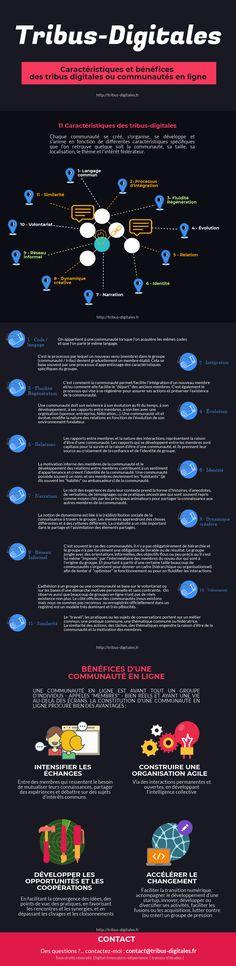 Caractéristiques structurantes et bénéfices des communautés en ligne. Weather, Marketing, Entrepreneurship, Change Management, Infographic, Fishing Line, Weather Crafts