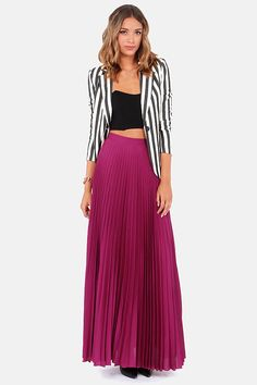 I want this skirt - Blaque Label Mermaid's Path Magenta Maxi Skirt at LuLus.com! @Nicholas Seymore wallace
