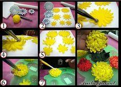 Fondant flower step by step