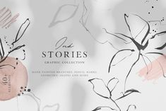 Ink Stories - Abstract Botanical Set by Greta Ivy on @creativemarket